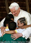 Pope Benedict XVI with children